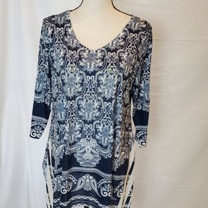 India Boutique Blue Tunic/Cover Up.